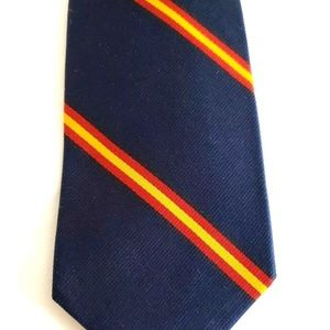 Vtg United States Army Transport Corp Blue Tie